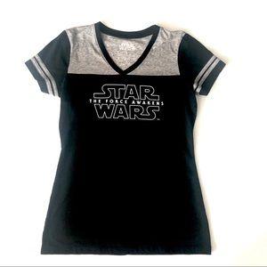 DISNEY STAR WARS  Black and  Gray T-SHIRT  Size L